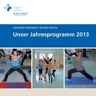 Unser Jahresprogramm 2013 - St. Rochus-Hospital Castrop-Rauxel