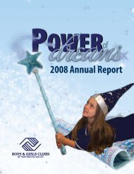 2008 Annual Report - Boys and Girls Clubs of Huntington Valley