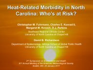 Heat-Related Morbidity in North - Southeast Regional Climate Center