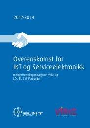 Overenskomst for IKT og Serviceelektronikk 2012 ... - El og it forbundet