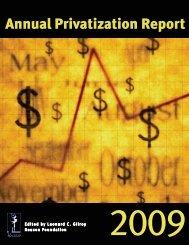Annual Privatization Report 2009 - Reason Foundation