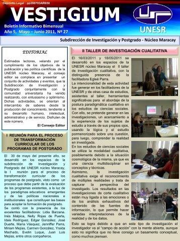 Año 5, Mayo – Junio2011, Nº27 - Universidad Nacional ...