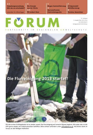 Die Flurreinigung 2013 startet! - ATM Online