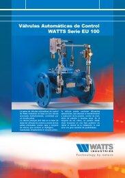 lvulas Autom ticas de Control WATTS Serie EU 100 - Watts Industries
