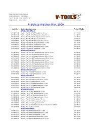 Preisliste Walther-Pilot 2009 V-Tools