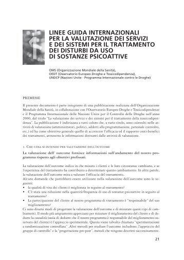 Linee guida internazionali per la valutazione dei servizi e ... - Dronet