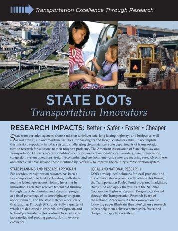 State DOTs - Transportation Innovators - American Association of ...
