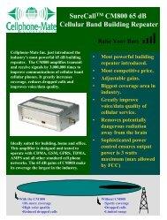 CM800-65 Spec Sheet - MyCellSignalBooster.Com