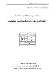 Vorgehen traditionell, imperativ, strukturiert