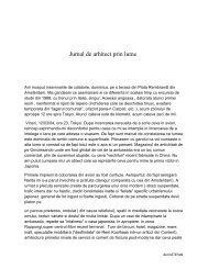 Jurnal de arhitect prin lume - DSBA