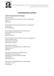 Kooperierende Kliniken - Ausbildungsprogramm Kinder - Goethe ...