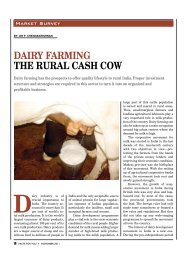 DaIry farmIng the rural cash cow - Facts For You