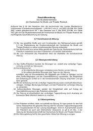 Geschäftsordnung des Studierendenrates der Hochschule für Musik ...