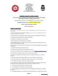 purchase bulletin tender booklet - South Eastern Railway