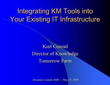 Integrating KM Tools into Your Existing IT Infrastructure