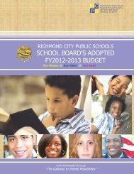 FY2012-2013 School Board Adopted Budget - Richmond Public ...