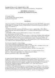 Consiglio di Stato, sez. IV, 20 aprile 2012, n. 2360 ... - Ediltecnico