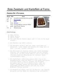 Rote Zwiebeln und Kartoffeln al Forno