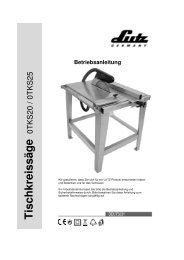 Tischkreissäge - LUTZ MASCHINEN