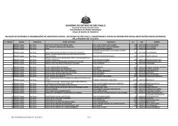 REL_ENTIDADE 05-2013 - Secretaria de Desenvolvimento Social ...