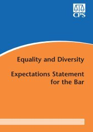 Equality and Diversity Expectations Statement for the Bar - Crown ...