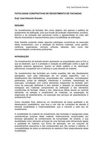 IBI PATOLOGIAS DE FACHADAS GRANATO.pdf - Impercia.com.br