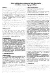 Gesamtbetriebsvereinbarung zur privaten Nutzung ... - BNC - Bayer