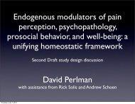 Endogenous modulators of pain perception, psychopathology ...