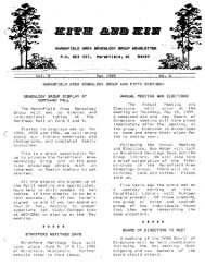 May 1989 - Marshfield Area Genealogy Group
