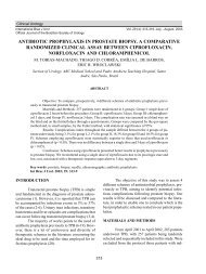 antibiotic prophylaxis in prostate biopsy. a comparative ... - SciELO