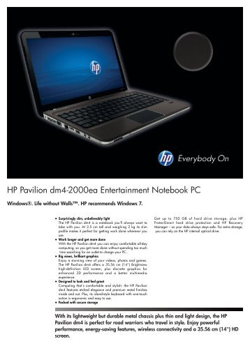 PSG Consumer 2C11 HP Notebook Datasheet - CCL Computers