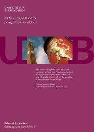 LLM brochure - University of Birmingham