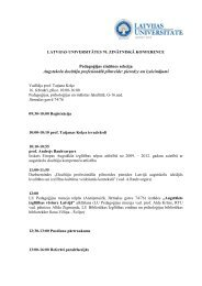 Konferences darba kārtība - LU Pedagoģijas, psiholoģijas un ...