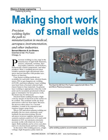 View Article in Acrobat Format - Pro-Fusion Technologies, Inc.