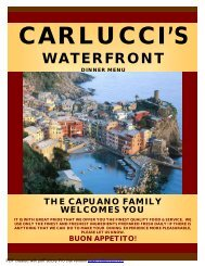 New Version CW Dinner Menu 10-20-11 - Carlucci's Grill