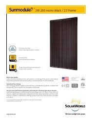 Sunmodule Plus 260 watt mono black data sheet - SolarWorld