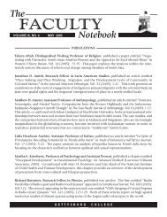 Faculty Notebook may  05.indd - Gettysburg College