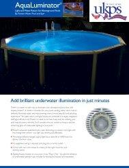 Download AquaLuminator Sales Brochure PDF Here - UK Pool Store