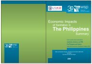 Economic Impacts of Sanitation in the Philippines Summary - WSP