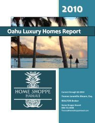Oahu Luxury Real Estate Report - Home Shoppe Hawaii