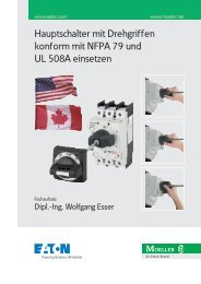 Hauptschalter mit Drehgriffen konform mit NFPA 79 und UL ... - Moeller