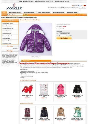 Online shopping moncler branson for kids purple in general is ...