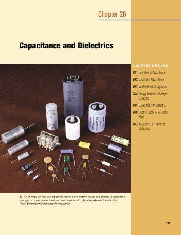 Capacitance and Dielectrics Chapter 26 - electron.rmutphysics.com