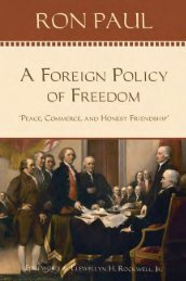 A Foreign Policy of Freedom - Ludwig von Mises Institute