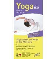 2009 Yogastunden und Kurse in Bad Meinberg - Yoga Vidya