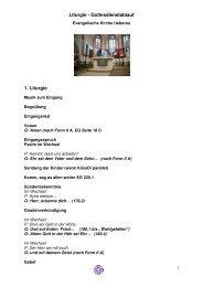 Liturgie - Evangelisches Dekanat Vorderer Odenwald