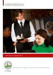 Serviceregeln Broschüre laden - Bacher-Carina