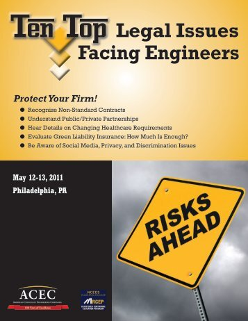 Facing Engineers Legal Issues - American Council of Engineering ...