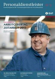 """""""Personaldienstleister"""" – das Branchenmagazin des BAP 02/2013"""