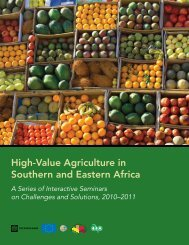 High-Value Agriculture in Southern and Eastern Africa - The Global ...